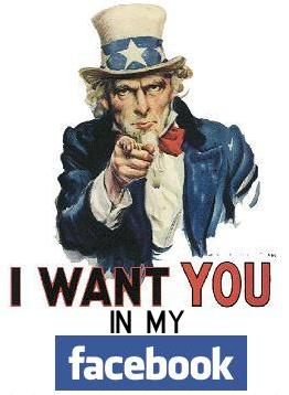 I want you in my facebook