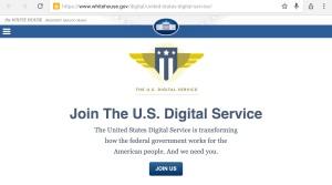 Screenshot digital service dep. Whitehouse