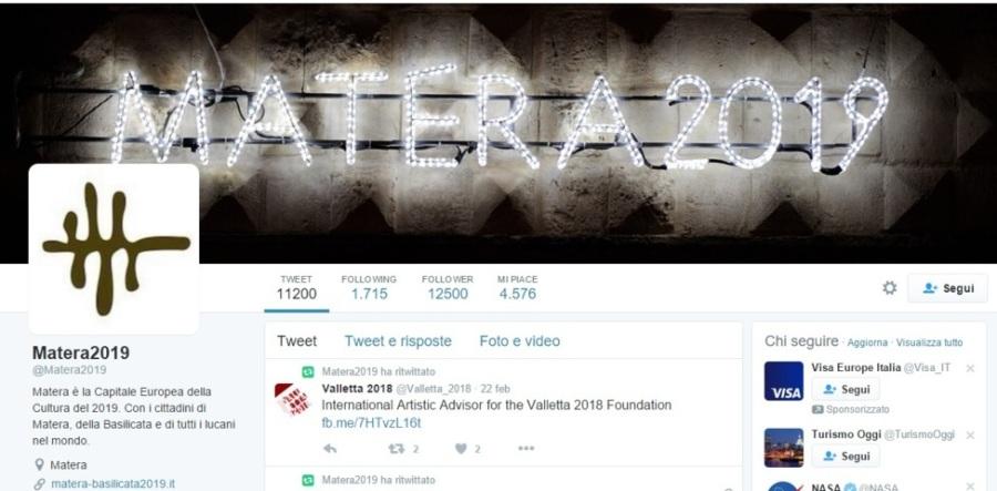 account twitter promozione matera