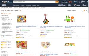 Amazon apre al mercato dei cibi freschi e dei prodotti da supermarket in Italia