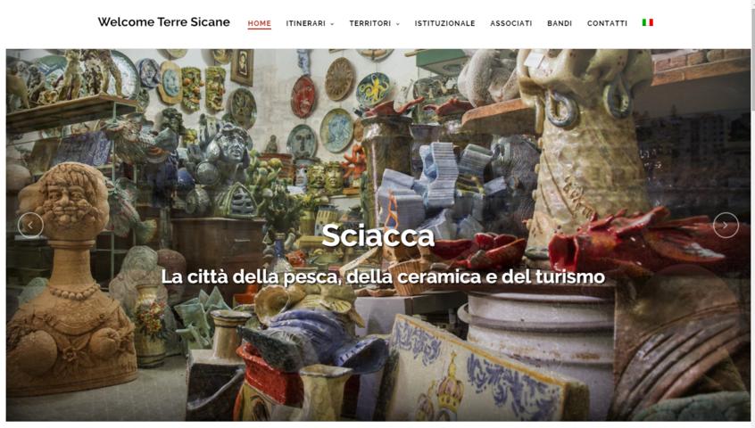 homepage del sito le strade del vino terre sicane