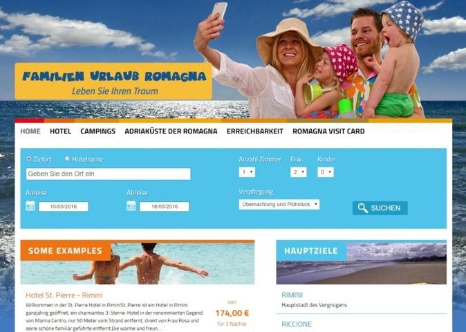 immagine homepage sito promozione brand romagna mercato tedesco
